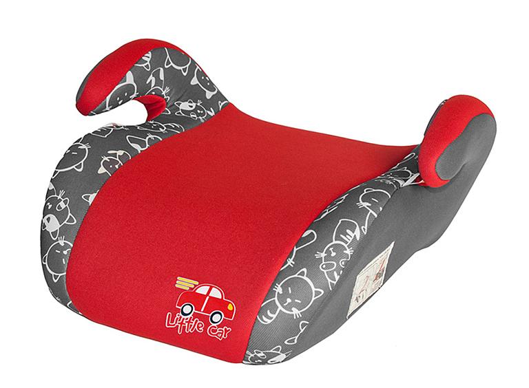 Бустер детский 22-36кг. Little Car Smart коты-красный