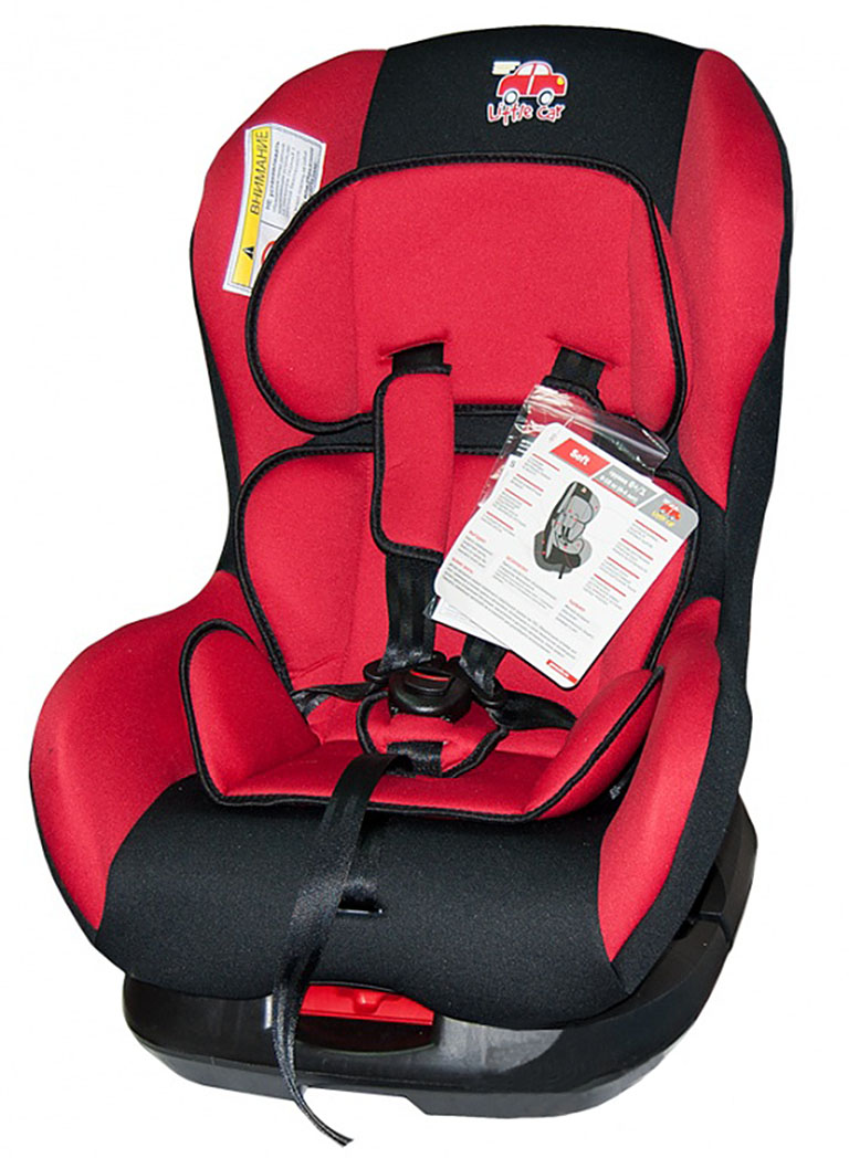 Автокресло детское 0-18кг. Little Car Soft красный 125972