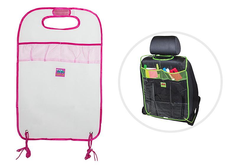 Защита - органайзер на спинку переднего сидения Little Car розовый кант