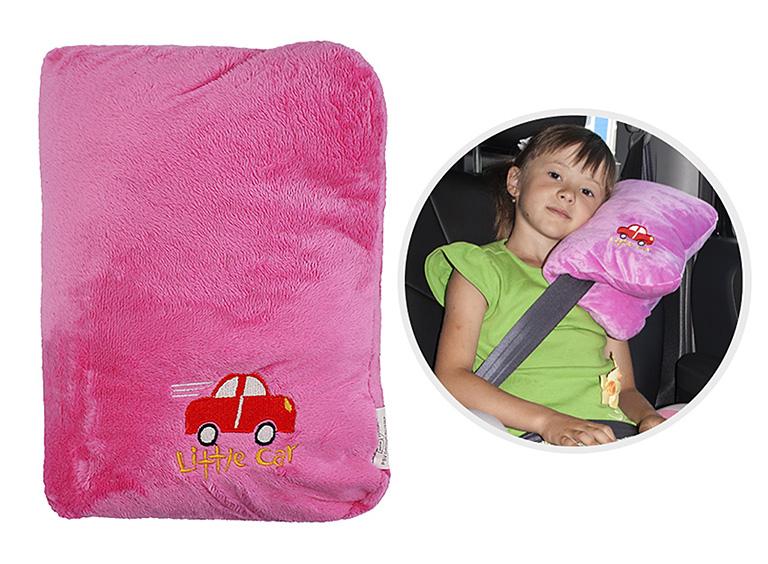 Подушка на ремень безопасности Little Car розовый