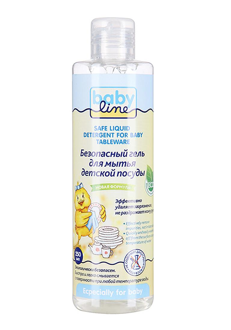 BABYLINE Безопасный гель для мытья детской посуды, 250мл