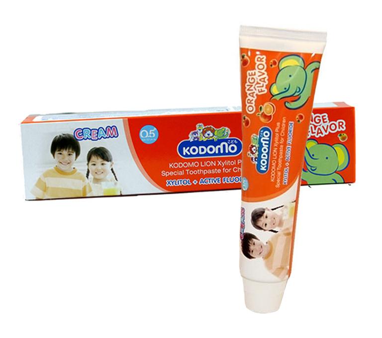LION KODOMO Дет зубная паста со вкусом апельсина, 80гр.