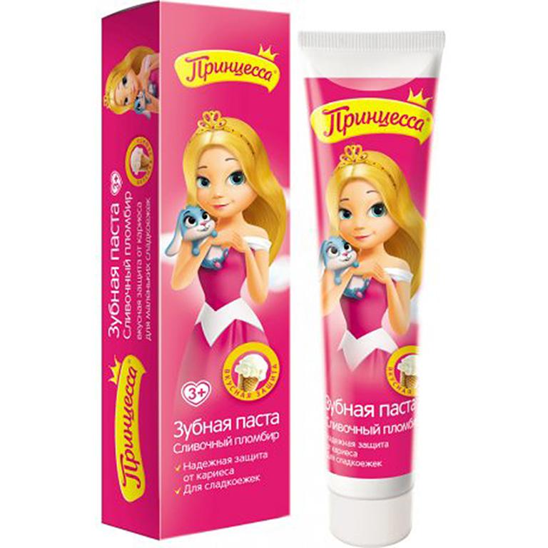 Принцесса Зубная паста Сливочный пломбир, 50гр