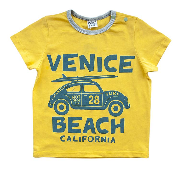 "0916 Футболка д/мал ""Venice beach."" кулир"