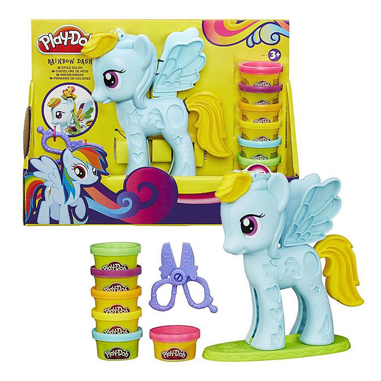 """0011B Play-Doh Игровой набор """"Стильный салон Рэйнбоу Дэш"""""""