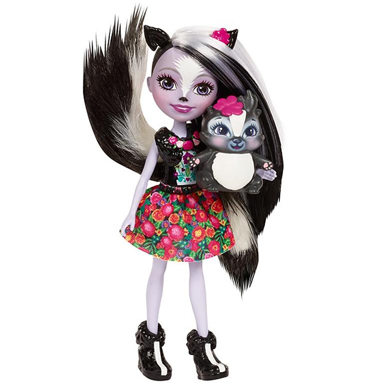 """DYC75 ENCHANTIMALS """"Кукла с любимой зверюшкой - Сейдж Скунси"""""""