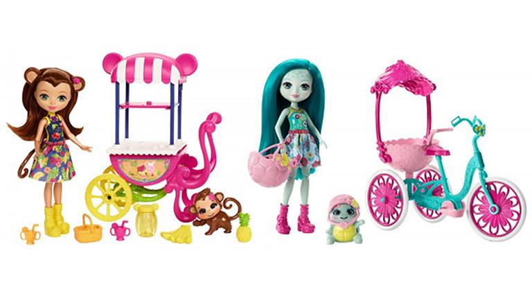 """FJH11 ENCHANTIMALS """"Кукла со зверюшкой и транспортным средством в асс."""""""