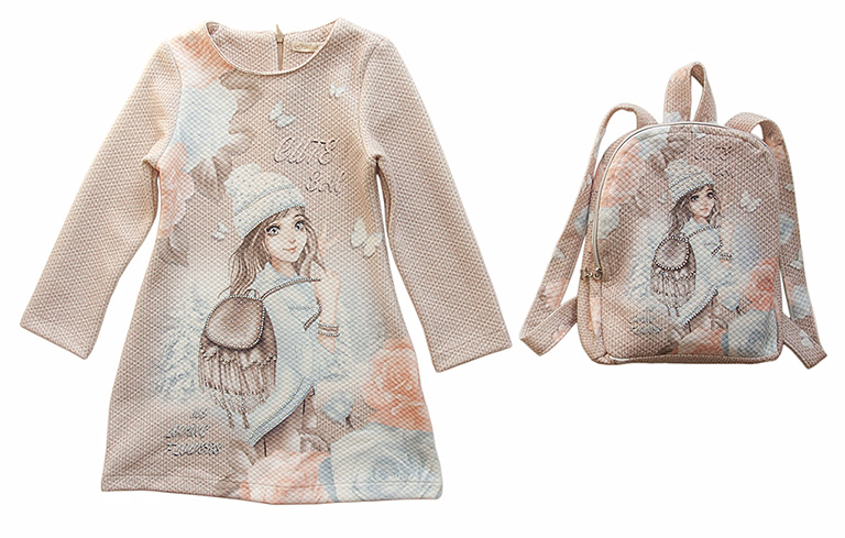 Платье с рюкзачком 3866 (5-8лет)