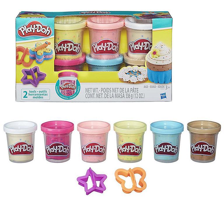 Play-Doh В3423 Набор из 6 баночек с конфетти