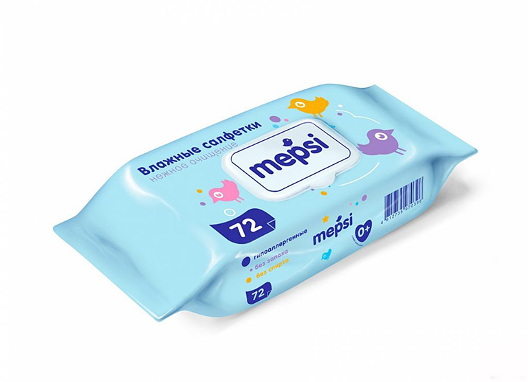 MEPSI Влажные салфетки дет.72шт