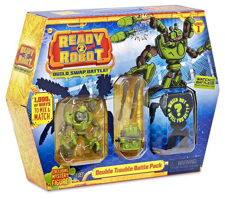 553878 Ready2Robot Две капсулы и оружие, 4 в асс.