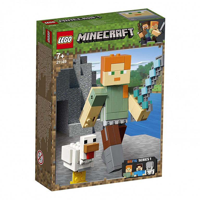"""21149 Конструктор LEGO Minecraft """"Большие фигурки: Алекс с цыпленком"""""""