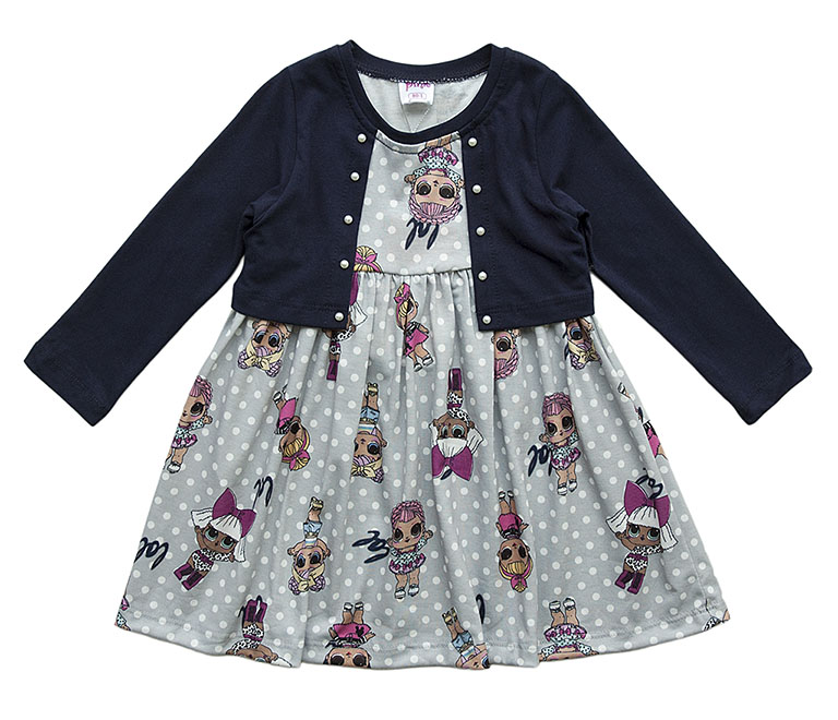Платье трикотаж 9794 (1-4года)